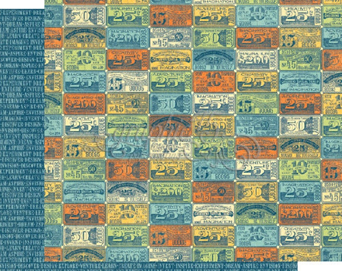 2 Sheets of WORLD'S FAIR Scrapbook Paper by Graphic 45 - Ticket to Ride
