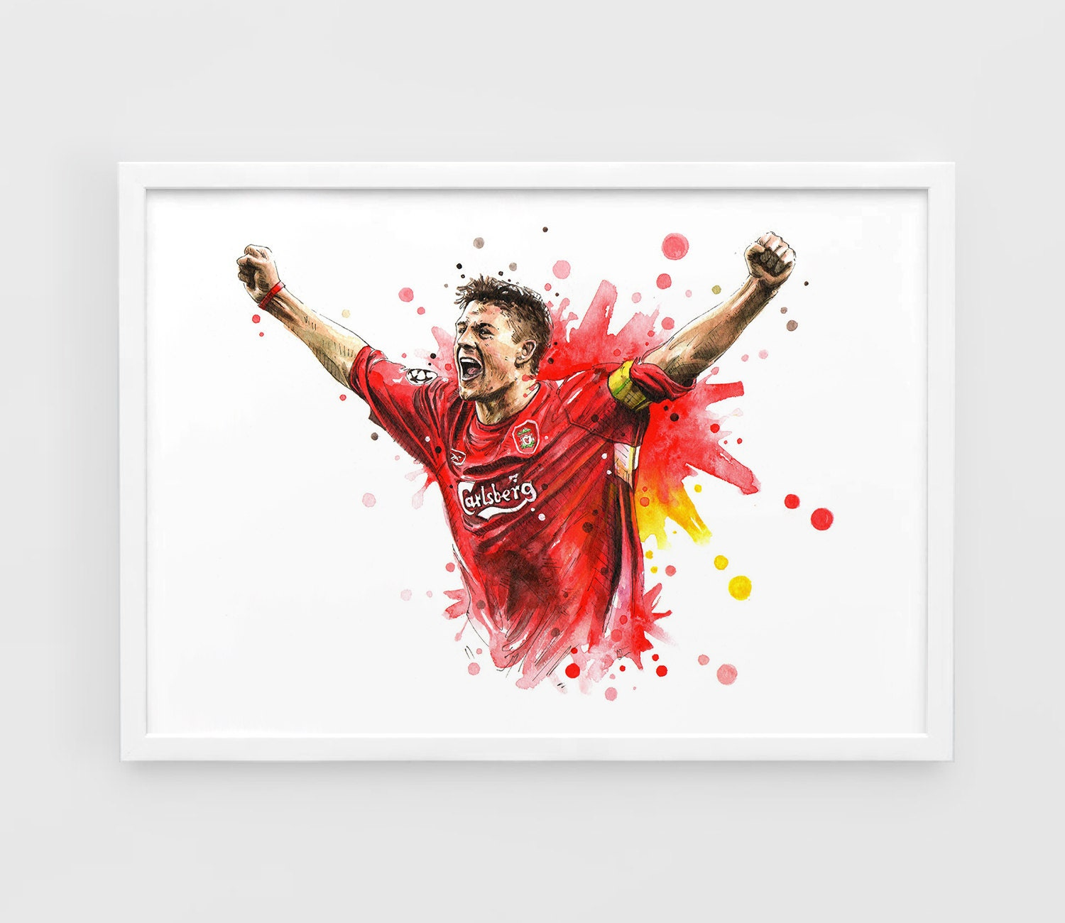 steven gerrard liverpool fc a3 wall art print poster of. Black Bedroom Furniture Sets. Home Design Ideas