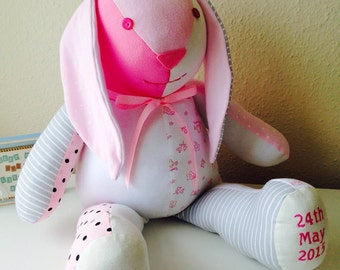 Keepsake Bunny Rabbit from your Baby Clothes