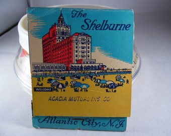 Early Old Shelburne Hotel Atlantic City New Jersey Giant Matchbook w/ Matches