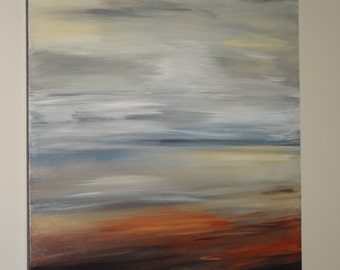 Sunset Sky original acrylic painting on canvas
