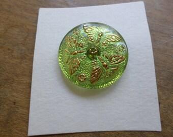 Lg. czech glass buttons, 3pc.