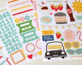 October Afternoon Summertime Stickers Lot