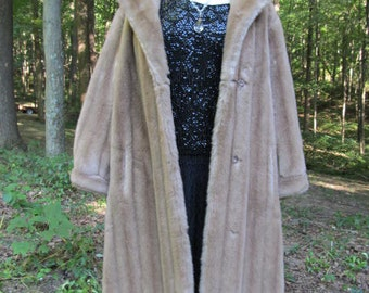 Beautiful Vintage Faux Mink Fur Coat