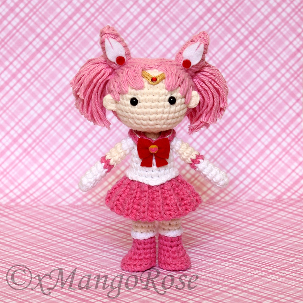 Crochet Mini Doll Pattern : Sailor Chibi Mini Moon Plush Amigurumi Doll Crochet by ...