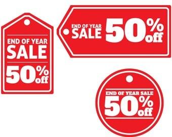 Off Season Sale Sign - 50% Off Tag