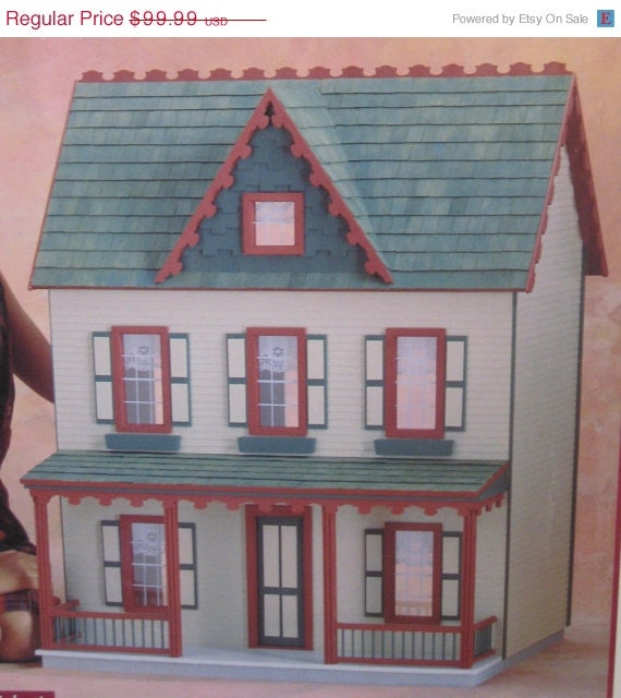 On Sale New Vermont Farmhouse Jr 7 Room Dollhouse Kit Model