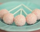 Cake Pops Pink (12) Edible Baby Shower Favor, Pink Party Favor, Edible Gift, Pink Baby Shower Favor, Bridal Shower Favor, Wedding Favor
