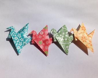 Origami Crane Brooch