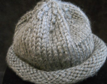 Grey Skull Cap in Bulky Yarn = Warmth This Winter!