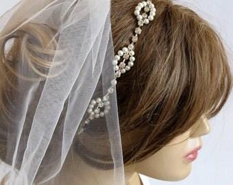 Rhinestone and Pearl headband, Wedding bridal headband, hairband, wedddings, Hair Accessory, hair accessories, Headpieces, headpiece, gift