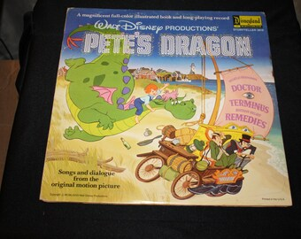 Walt Disney's Pete's Dragon Storyteller 3818- LP and Color illustrated book