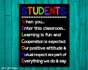 Classroom Welcome Sign. Classroom Decor. When you enter this classroom. Teacher Sign. Teacher Rules. School Rules. Classroom Sign for School