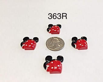 2/3/5 Mickey Mouse inspired Resin Flat back Cabochon Hair Bow Center
