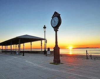 Revere Beach Sunrise, Revere Beach Clock, Sunrise photography, Morning photography