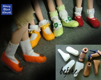 DIY flat SHOES for Bratz - turn Bratz heels into comfy handmade shoes with socks - instant download pdf TUTORIAL and pattern