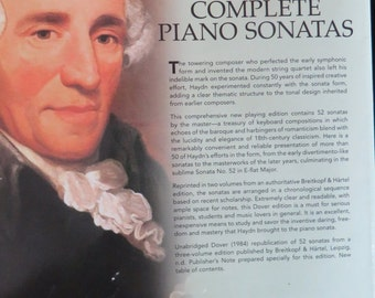 Complete Piano Sonatas by Joseph Haydn  //  Volume II of 2  //  Dover Publications  //  Sheet Music  //  Copyright 1984 Printed in US