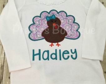 Girl Thanksgiving T Shirt / Bodysuit for Baby, Toddler & Child Personalized with Name