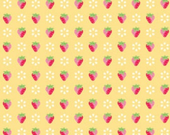 Sunrise Studio 2 Collection Yellow Small Strawberries SKU # LH14047YLW From Lakehouse Drygoods