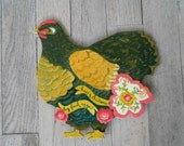 Miss Poulet de Chalet by Kimberly Hodges, Chicken Wall Sign, Wicked Chickens lay deviled eggs, chicken coop, french country chicken