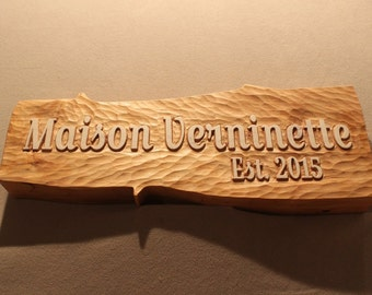 Custom carved wood signs | Home Signs | Cabin Signs | Cottage Signs | Chalet Signs | Vacation Home Signs | Wooden Signs | Rustic Signs