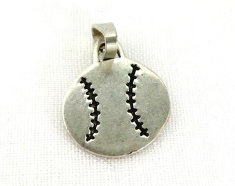 Sterling Silver Soccer Charm, Vintage Soccer Ball Charm, Sports Pendant, Birthday Gift, Stocking Stuffer