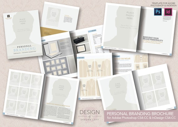 adobe photoshop brochure templates - personal branding brochure with real text by