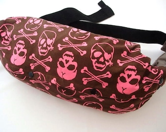 Last-BABY CARRIER BAG--For Ergo Baby,Tula,Mei Tai,Beco,Boba,Manduca,Case,Brown Pink Skulls,Storage of Baby Carrier,Sack Bag