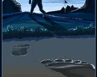 Big Foot (Art Prints available in multiple sizes)