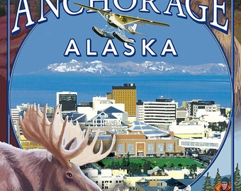 Anchorage, Alaska Views (Art Prints available in multiple sizes)