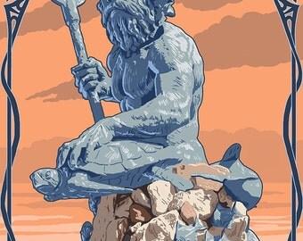 Neptune lantern | Etsy
