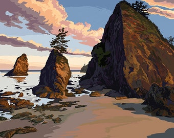 Olympic National Park, Washington - Ruby Beach (Art Prints available in multiple sizes)