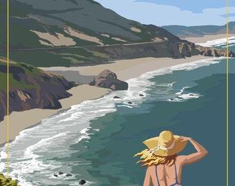 Shell Beach, California - Coast Scene (Art Prints available in multiple sizes)