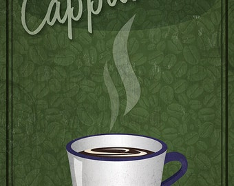 Cappuccino Sign (Art Prints available in multiple sizes)