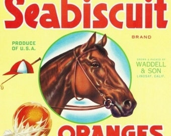 Lindsay, California - Seabiscuit Brand Citrus Label (Art Prints available in multiple sizes)