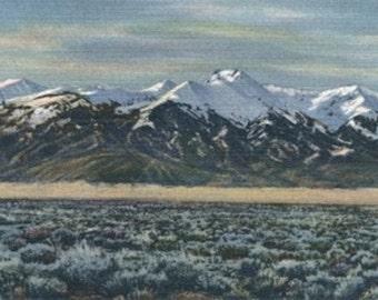 San Luis Valley, Colorado - Mt. Sierra Blanca View (Art Prints available in multiple sizes)