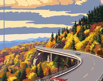 Linn Cove Viaduct - Blue Ridge Parkway (Art Prints available in multiple sizes)