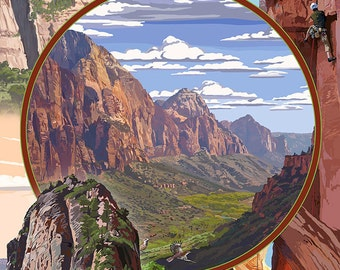 Zion National Park - Montage Views (Art Prints available in multiple sizes)