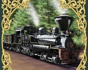 Yosemite Mountain Sugar Pine Railroad (Art Prints available in multiple sizes)