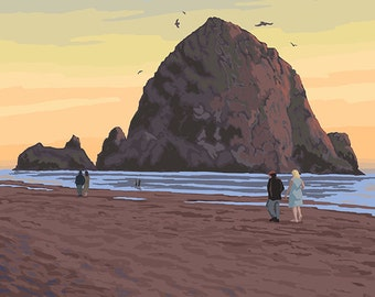 Haystack Rock - Cannon Beach, OR (Art Prints available in multiple sizes)
