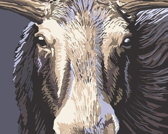 Kootenay, Canada - Moose Up Close (Art Prints available in multiple sizes)