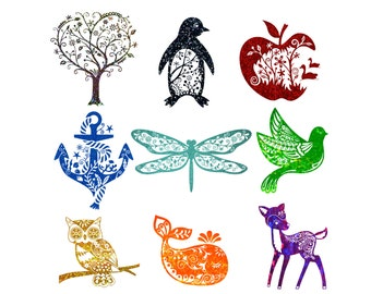 Custom Glitter Car Decal your choice tree, penguin, apple, anchor, dragonfly, bird, owl, whale, deer