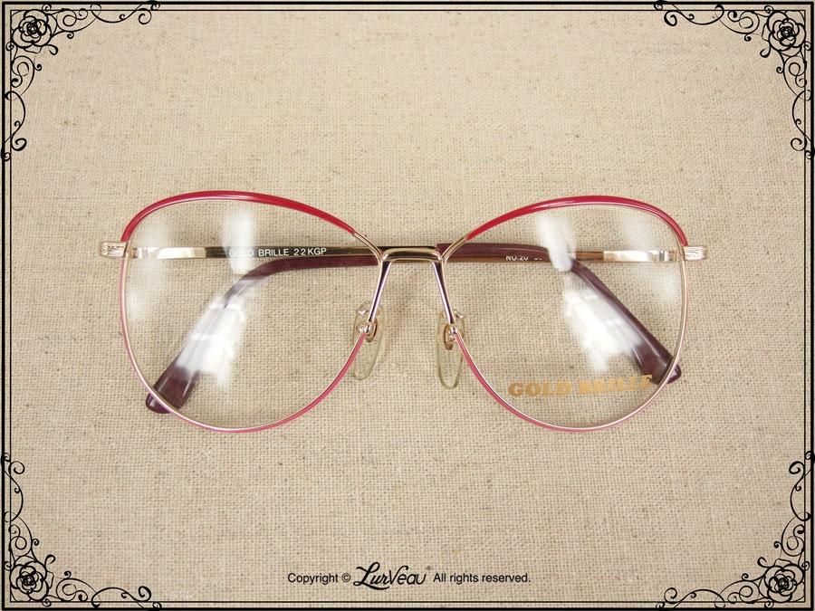 Authentic 22K Gold-plated Irregular-shape Vintage Eyewear ...