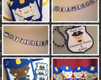Police theme Baby Shower/ First Birthday Decorations.