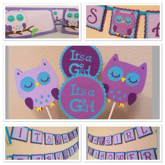 owl themed baby shower decorationschoose by mybabyshowerboutique
