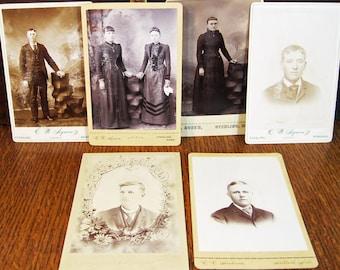 Cabinet cards from Nebraska, set of six