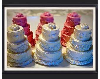 Wedding Cake Chocolate Covered Oreos - Wedding Chocolate Favors set of 12