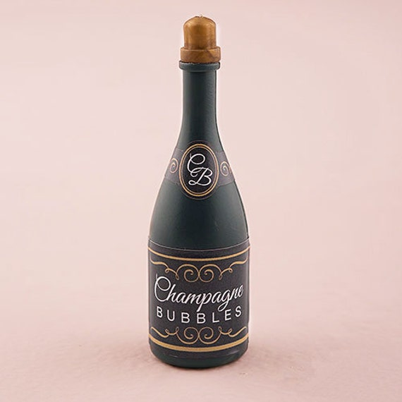 24 pcs Wedding Bubbles Champagne Bottle Favor - Bridal Shower Favor -Party Favors-Champagne Bottle Wedding Favors-Bridal Party (ENWF-WS9683)