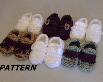 PATTERN Loafer Booties Crocheted