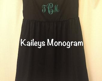 Monogrammed Swim Suit Cover Up Bathing Suit Cover Up Black Beach Pool Kaileysmonogram Cruise Summer Preppy